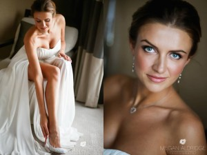 The stunning Irina getting ready at Crown Towers before her wedding. Hair & makeup by Vivian Ashworth Hair & Makeup www.vivianashworth.com.au   Flowers by Babylon Flowers  Shoes by Christian Louboutin  Photos done by http://www.meganaldridge.com.au/