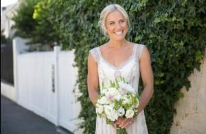 Lauren's #wedding Hair and Makeup by Vivian Ashworth Dress: Gwendolynne  Hairpiece: Richard Nylon  Flowers: Style by Nature  Venue: Port Melbourne Yacht Club (Peter Rowland Catering)#weddinghairandmakeup by @vivianashworth_